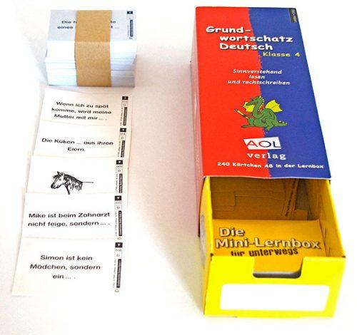 Grundwortschatz Deutsch für die 4. Klasse